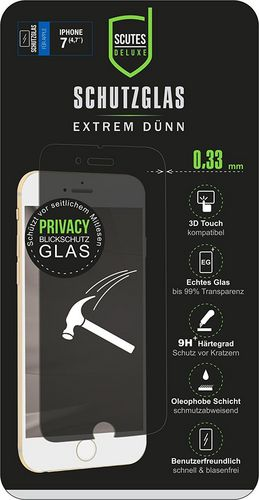 Scutes Glass Screen Protector - iPhone 7 / 8 Privacy