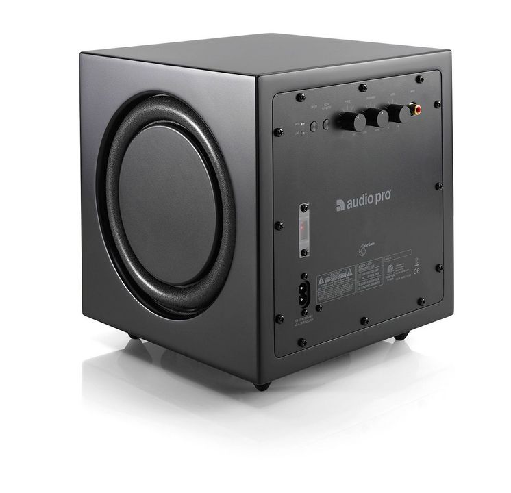 audio pro addon c sub wireless subwoofer black. Black Bedroom Furniture Sets. Home Design Ideas