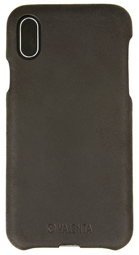 Valenta Leather Back Cover Classic - iPhone X - vintage black