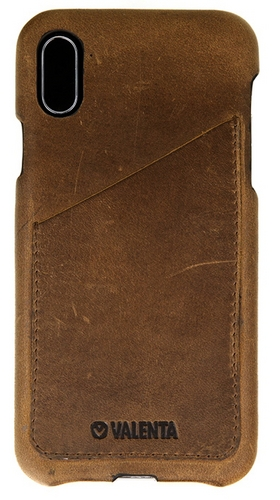 Valenta Leather Back Cover Classic Luxe - iPhone X/XS - vintage brown