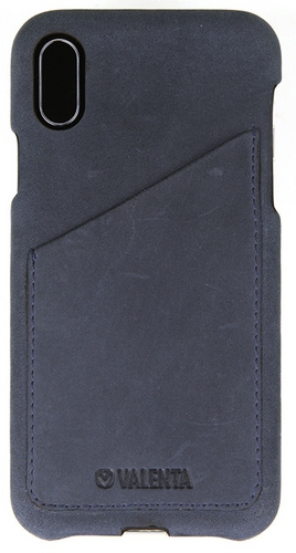Valenta Leather Back Cover Classic Luxe - iPhone X/XS - vintage blue