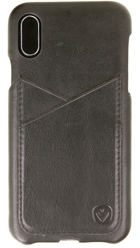 Valenta Leather Back Cover Premium - iPhone X - black