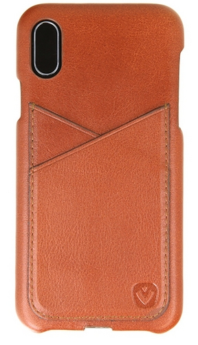 Valenta Leather Back Cover Premium - iPhone X/XS - brown