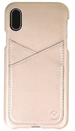 Valenta Leather Back Cover Premium - iPhone X -gold