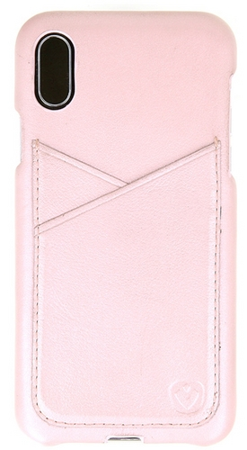 Valenta Leather Back Cover Premium - iPhone X/XS - rose