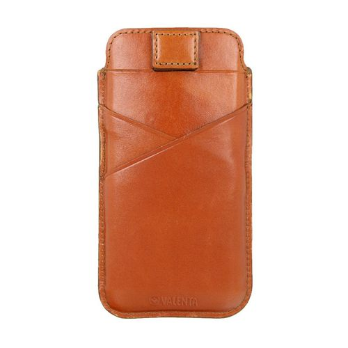 Valenta Leather Pocket Premium - iPhone X/XS - brown