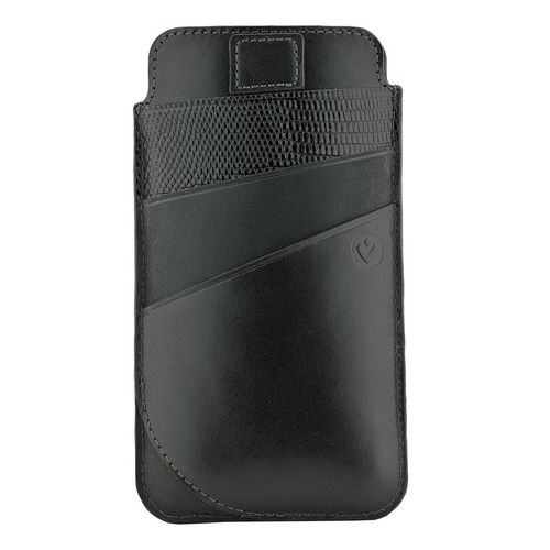 Valenta Leather Pocket Supreme - iPhone X - black