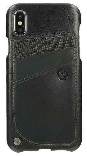 Valenta Leather Back Cover Supreme - iPhone X - black