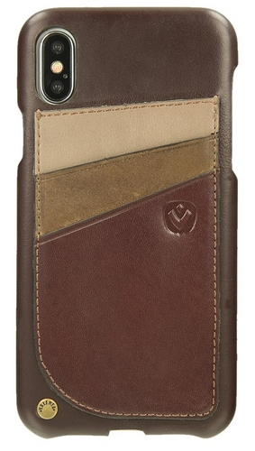 Valenta Leather Back Cover Supreme - iPhone X - brown