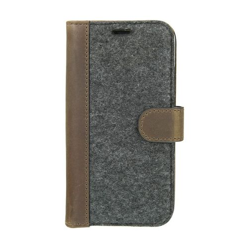 Valenta Leather Booklet Raw - iPhone X/XS - vintage brown