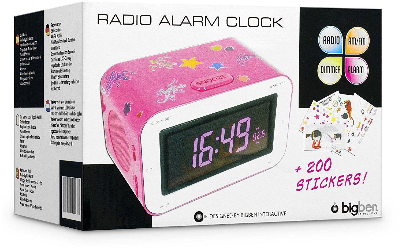 bigben alarm clock radio rr30 kids pink thali. Black Bedroom Furniture Sets. Home Design Ideas