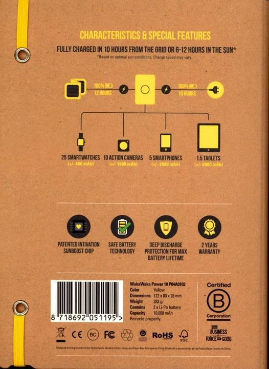 waka waka power 10 rechargeable powerbank 10 39 000 mah. Black Bedroom Furniture Sets. Home Design Ideas