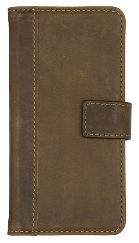 Scutes Booklet Case [w/ Credit Card Slot] - iPhone X - antic brown