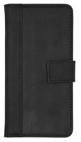 Scutes Booklet Case [w/ Credit Card Slot] - iPhone X - antic black