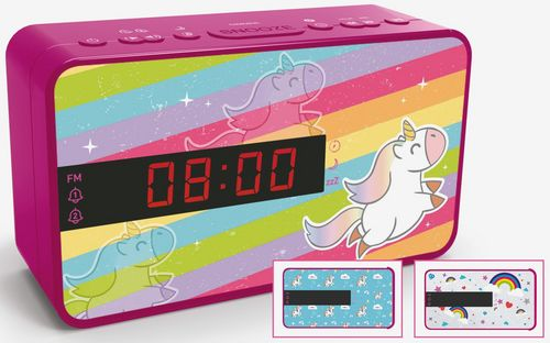 Bigben - Dual Radio Alarm Clock RR16 - Unicorn [incl. 3 front panels]