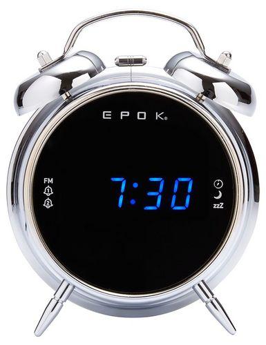 Bigben - Dual Radio Alarm Clock RR90 epok - silver