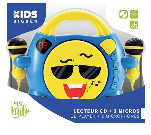 Bigben - Radio CD Player CD59 my milo - smiley blue [incl. 2 microphones]