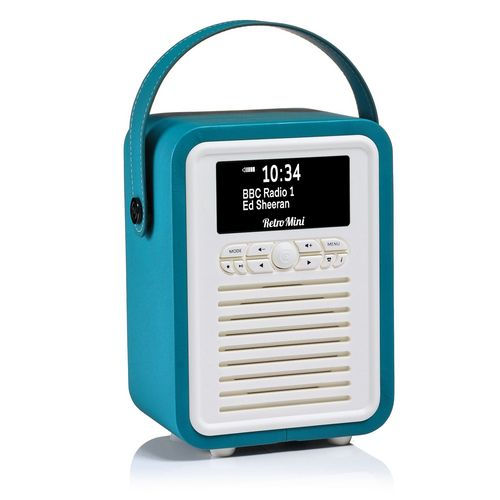 VQ Retro Mini DAB+/ BT Radio - electric blue