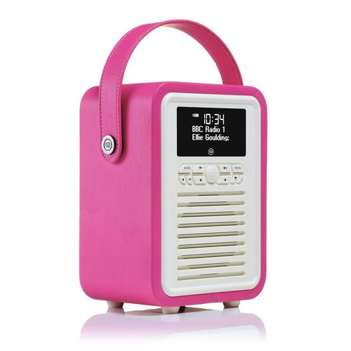 VQ Retro Mini DAB+/ BT Radio - pink