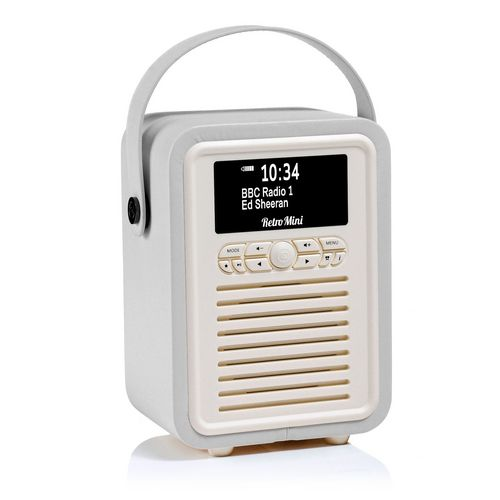 VQ Retro Mini DAB+/ BT Radio - grey