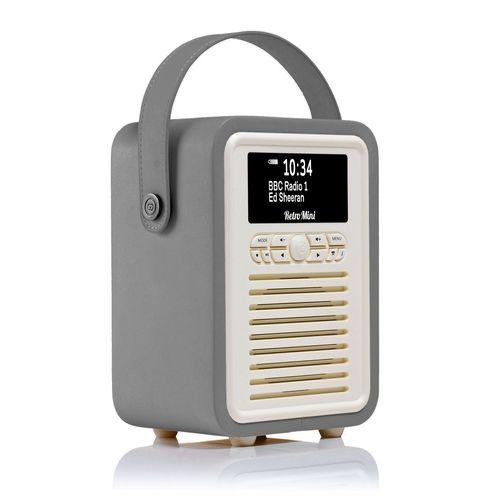 VQ Retro Mini DAB+/ BT Radio - dark grey