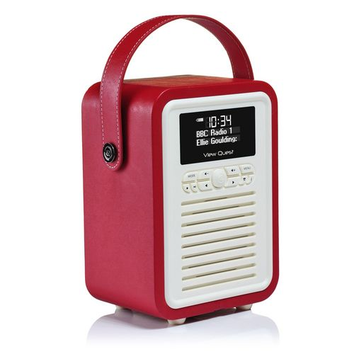 VQ Retro Mini DAB+/ BT Radio - red