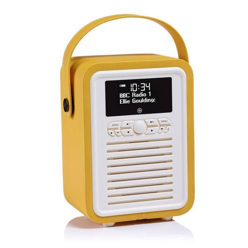 VQ Retro Mini DAB+/ BT Radio - mustard