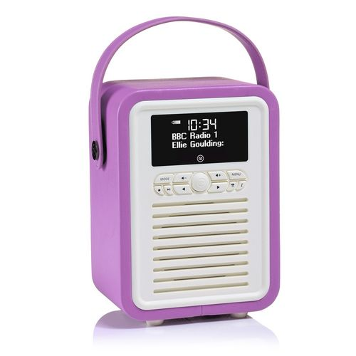 VQ Retro Mini DAB+/ BT Radio - orchid
