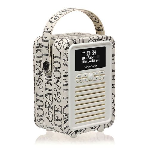VQ Retro Mini DAB+/ BT Radio - Black Toast