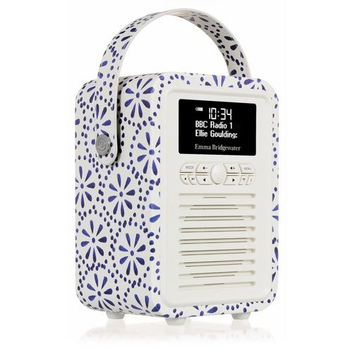 VQ Retro Mini DAB+/ BT Radio - Blue Daisy