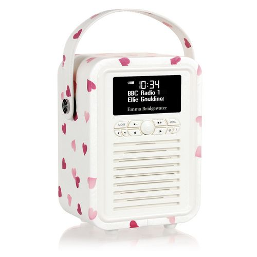 VQ Retro Mini DAB+/ BT Radio - Pink Hearts