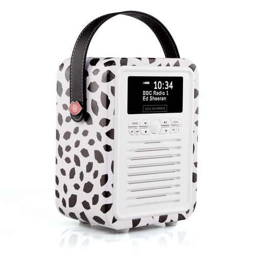 VQ Retro Mini DAB+/ BT Radio - Black Lip
