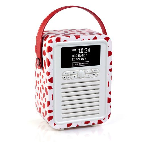VQ Retro Mini DAB+/ BT Radio - Red Lip