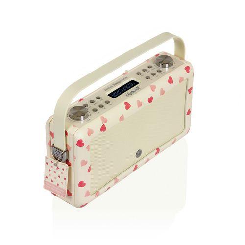 VQ Hepburn MkII DAB+/ BT Radio - Pink Hearts