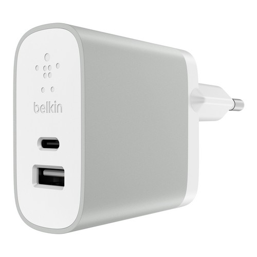 Belkin MIXIT Premium Home Dual Charger USB-C + USB-A [27W] - silver
