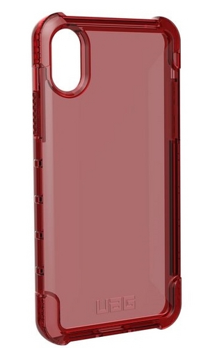 UAG Plyo Case - iPhone X (5.8 Screen) - crimson (dark red transparent)