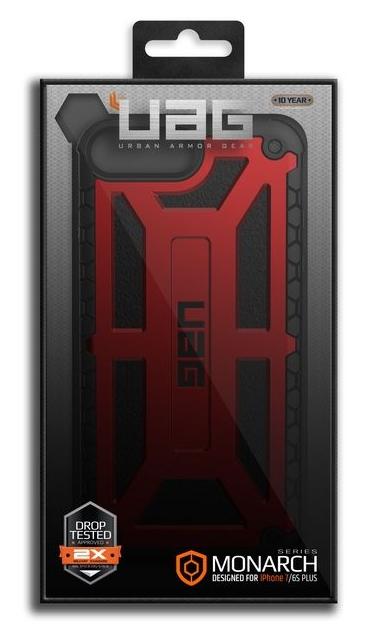 UAG Monarch Case - iPhone 8 Plus / 7 Plus / 6s Plus - crimson. CHF 69.90 Incl. VAT