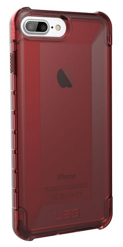 UAG Plyo Case - iPhone 8/7/6S Plus (5.5 Screen) - crimson (dark red transparent)