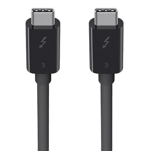 Belkin Thunderbolt 3 Cable [USB-C, 40Gbps, 100W, 5K], 0.5m - black