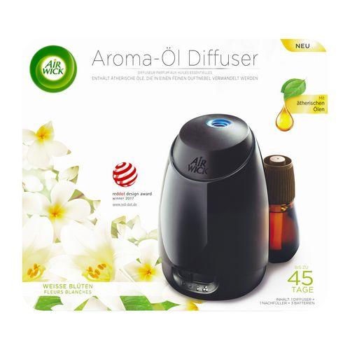 Air Wick Aroma-Öl Diffuser - Starter Set Weisse Blüten [Gerät + 1 Refill]