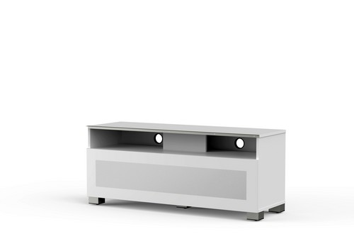 MyTv Stand 12040H - Mobile TV - Glass White