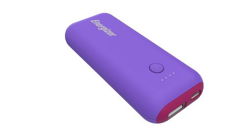 Energizer MAX 5'000mAh Power Bank - purple/magenta