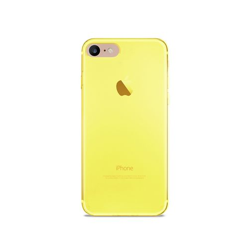Puro 0.3 Nude Cover - iPhone 7/8 (4.7 Screen)  - fluo yellow
