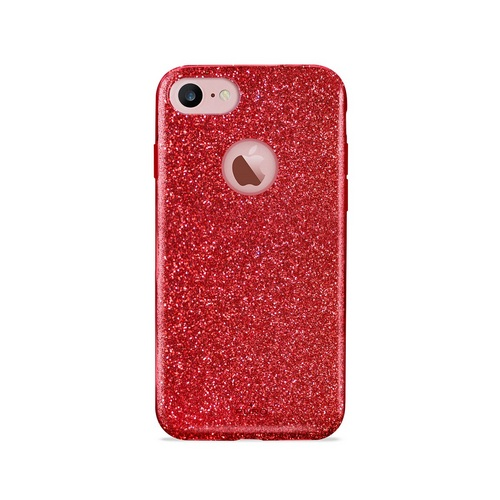 Puro Shine Cover - iPhone 7/8 - red