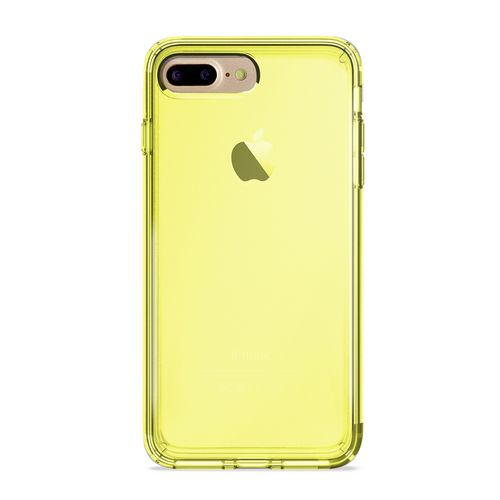 Puro 0.3 Nude Cover - iPhone 7 Plus /8 Plus (5.5 Screen) - fluo yellow