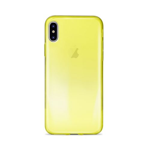 Puro 0.3 Nude Cover - iPhone X - yellow