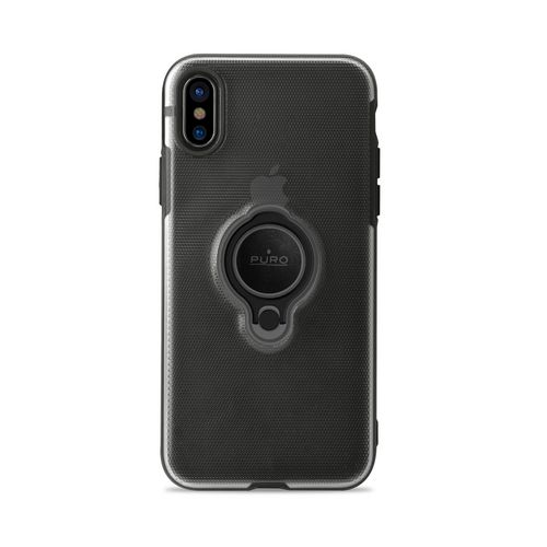 Puro Magnet Ring Cover - iPhone X - black