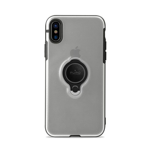 Puro Magnet Ring Cover - iPhone X - transparent
