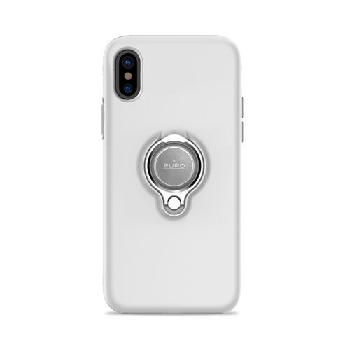 Puro Magnet Ring Cover - iPhone X - white