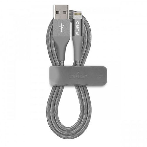 Puro Fabric Charge/Sync Cable, 1m [2.4A] [Lightning] - space grey